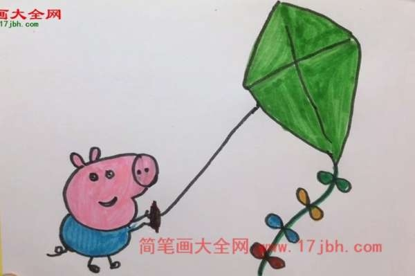 小猪乔治 简笔画