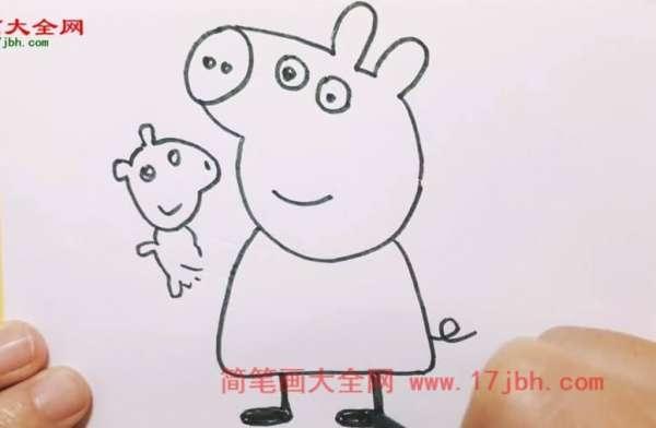 小猪佩奇简笔画步骤图
