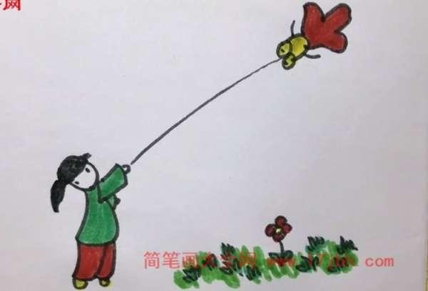 春天风景简笔画