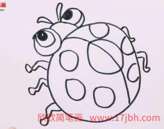 瓢虫简笔画彩色