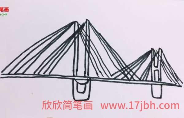 斜拉桥怎么画
