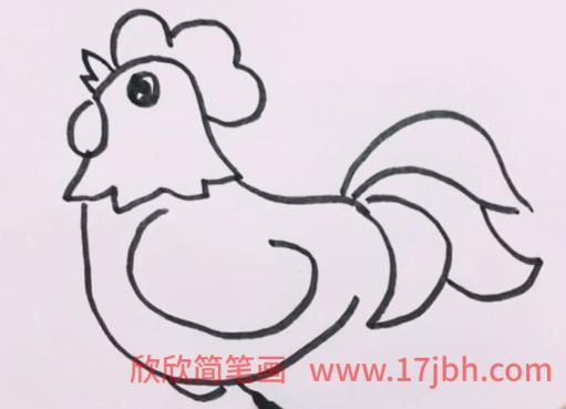 小公鸡简笔画图片