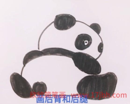 熊猫可爱简笔画