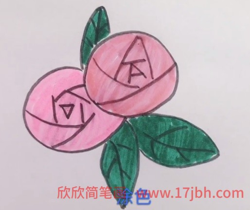 玫瑰花画法简笔画