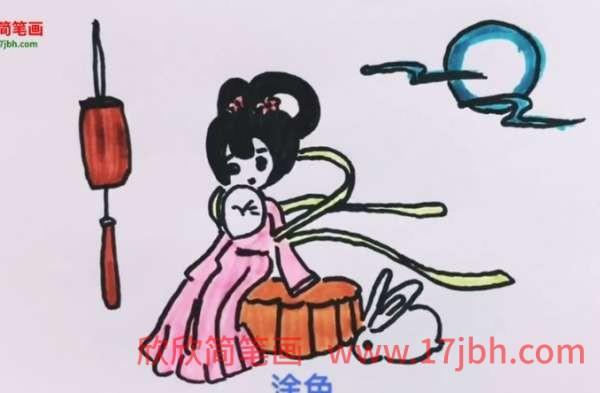 嫦娥简笔画图片