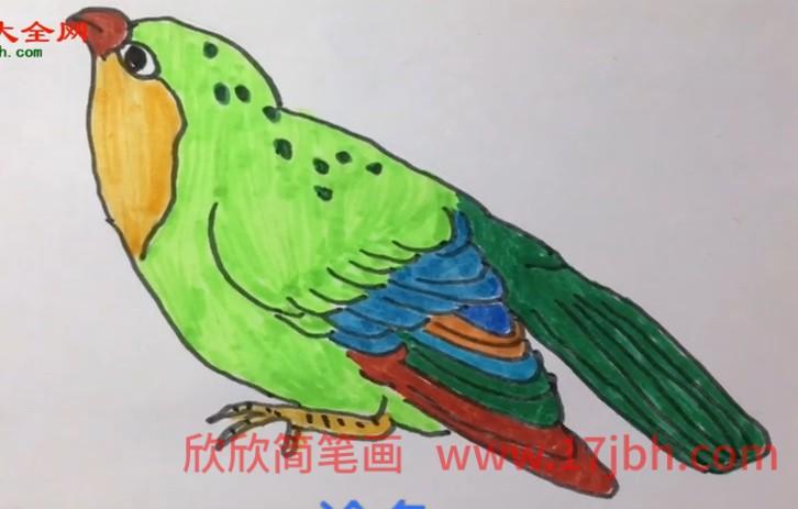 简单小鸟简笔画