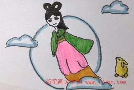 嫦娥简笔画视频