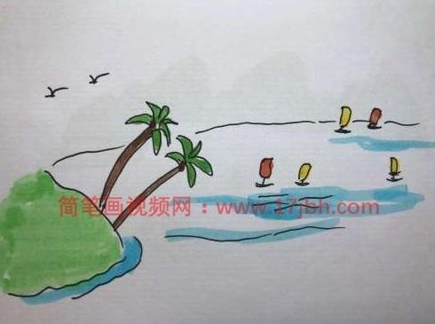 椰树简笔画图片大全