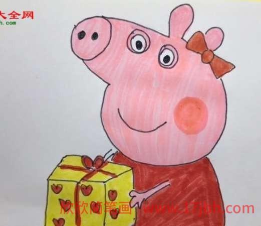 小猪佩奇简笔画怎么画