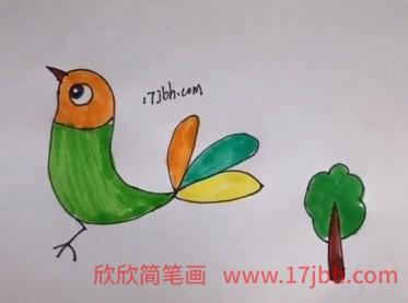 小鸟简笔画画法