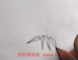 竹子简笔画步骤图