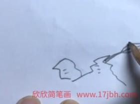 竹子简笔画手绘彩色