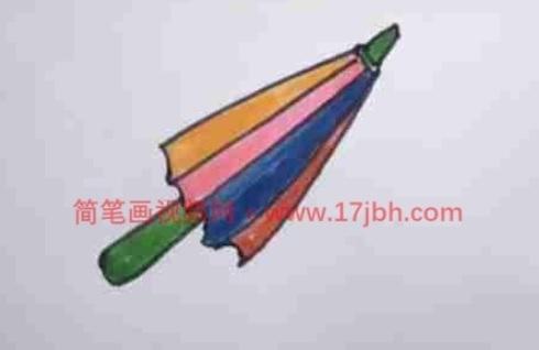 雨伞的简笔画图片大全