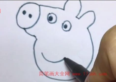 可爱的小猪佩奇简笔画