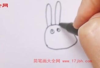 小兔瑞贝卡简笔画