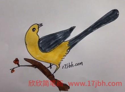 小鸟简笔画可爱