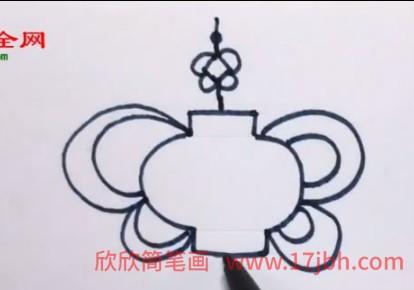 中国结简笔画步骤