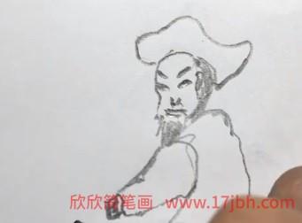 林冲简笔画卡通