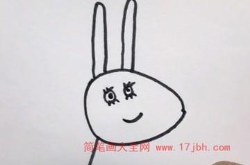小猪佩奇简笔画彩色漂亮