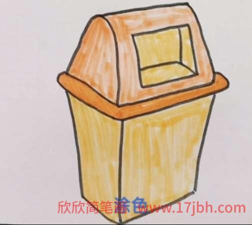 垃圾桶简笔画可爱