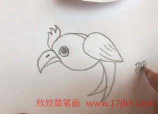 鹦鹉简笔画图片大全
