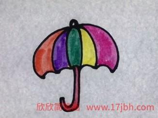 儿童简笔画雨伞