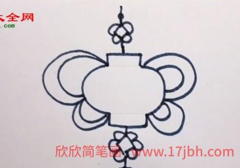 福字中国结简笔画
