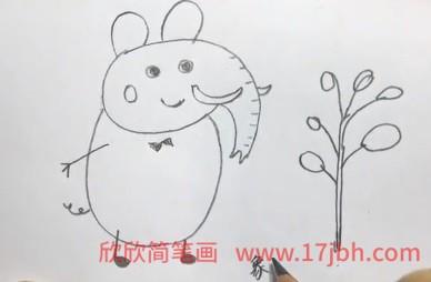 大象医生简笔画