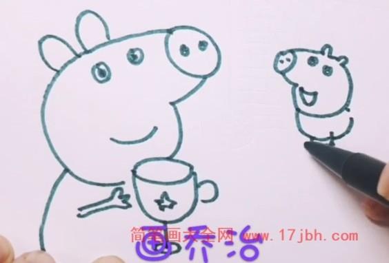 小猪佩奇怎么画