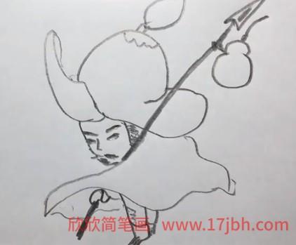 林冲简笔画