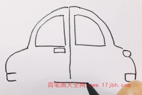 小汽车简笔画图片
