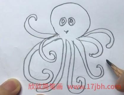 章鱼简笔画图片大全