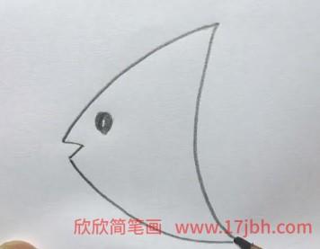 神仙鱼简笔画步骤