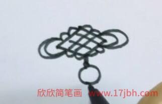 中国结简笔画图片