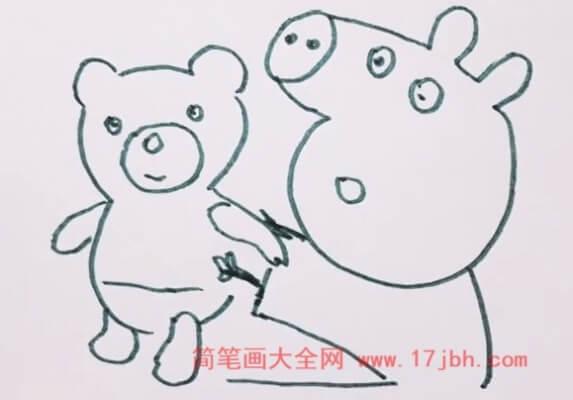 小猪佩奇简笔画简单漂亮
