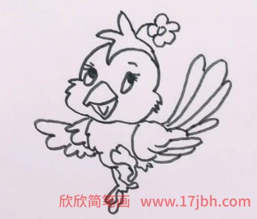 杜鹃鸟简笔画大全