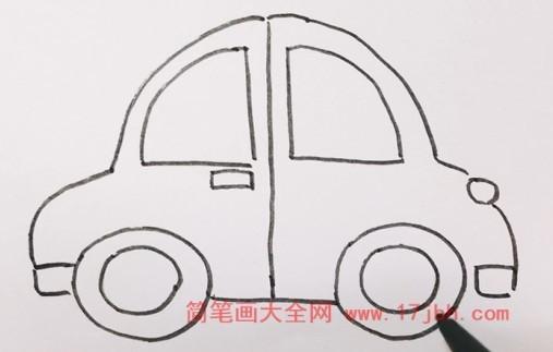 小汽车简笔画图片大全