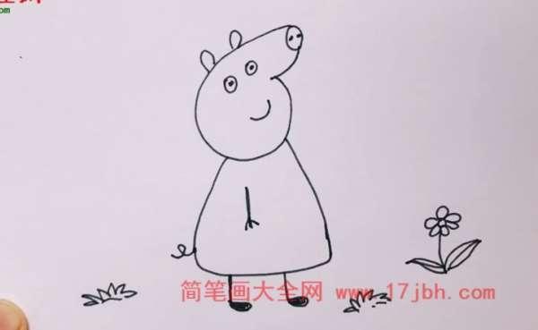 小猪克洛伊简笔画
