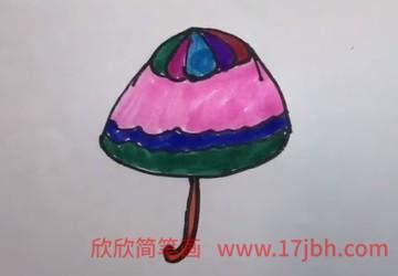 雨伞简笔画视频