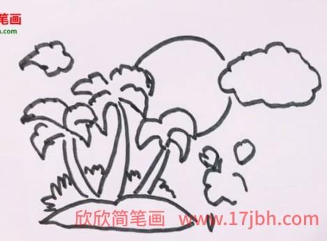 椰子树简笔画视频