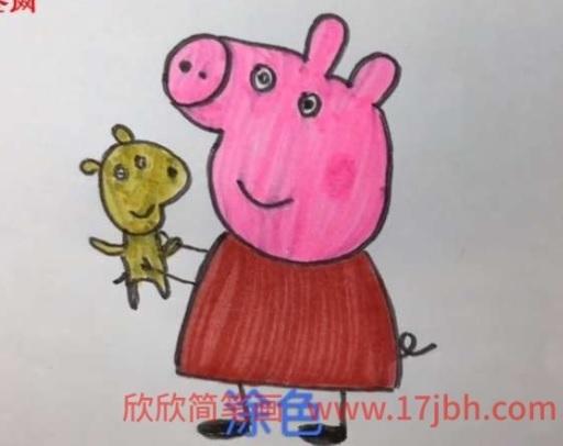 小猪佩奇简笔画