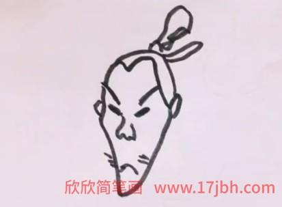 卡通水浒传人物简笔画