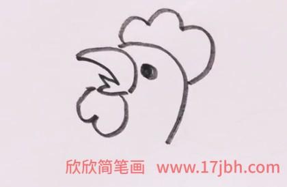 公鸡简笔画图片彩色