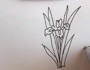 菖蒲花简笔画