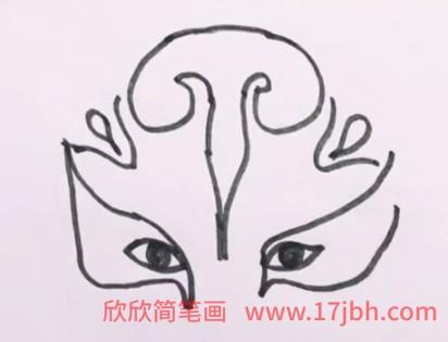 中国脸谱简笔画步骤