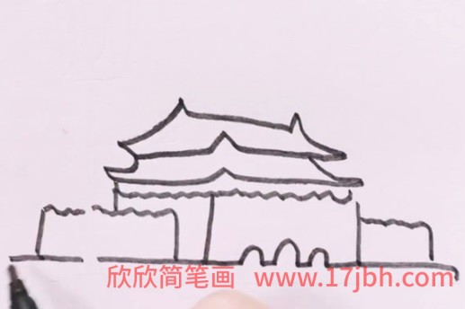 天安门简笔画图片