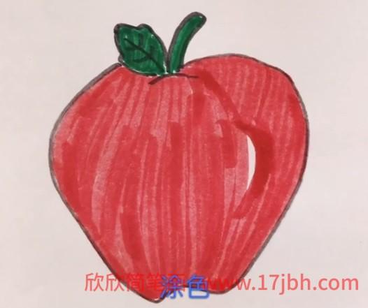 儿童苹果简笔画大全