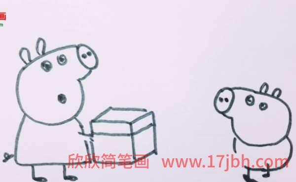 小猪佩奇乔治简笔画画法