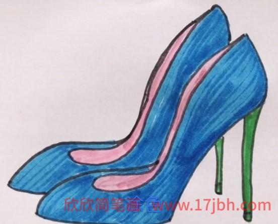 高跟鞋子简笔画
