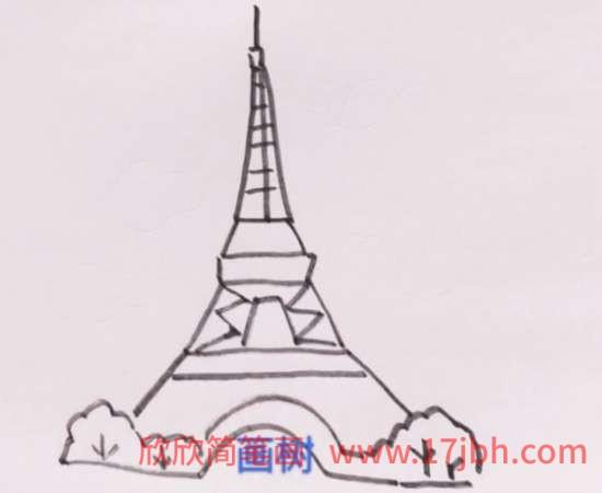 法国埃菲尔铁塔简笔画